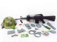 Karabin terkotka 70 cm. + hełm swat + akcesoria