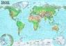 Świat. Mapa polityczna i krajobrazowa dwustronna mapa ścienna 1:31 000 000