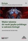 Wybór tekstów do nauki języka polskiego w zakresie biologii Podręcznik do nauki języka polskiego dla cudzoziemców