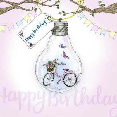 Karnet Swarovski kwadrat CL2807 Urodziny rower