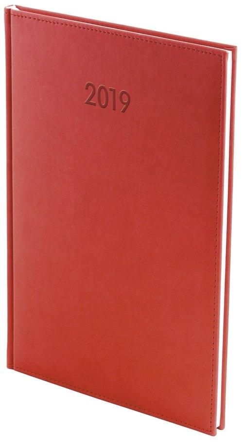Kalendarz 2019 A4 tygodniowy Vivella Czerwony