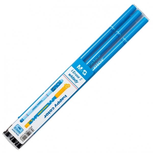 Wkłady do długopisu usuwalnego 0,5 mm, Standard A - niebieskie
