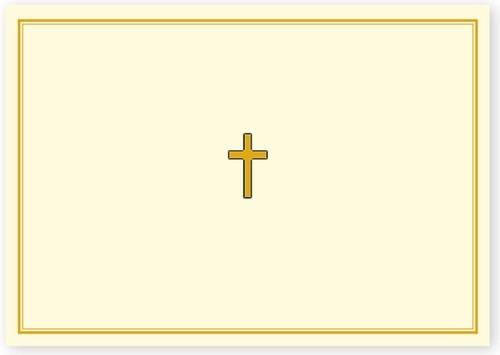 Papeteria Mini Złoty krzyż