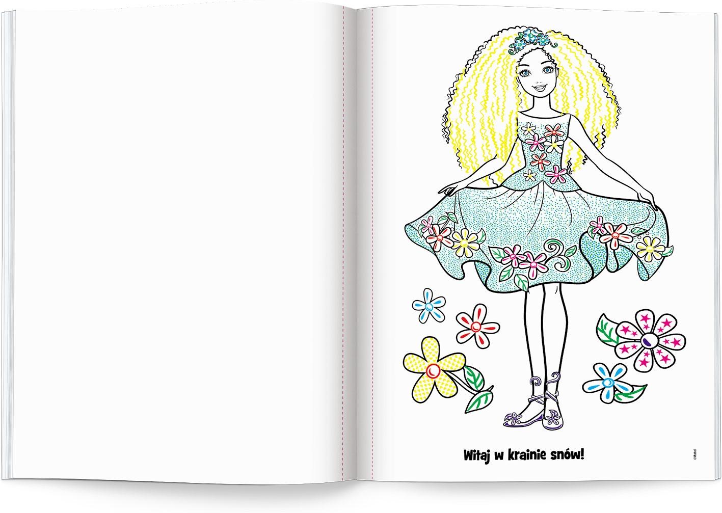 Malowanka, niespodzianka. Barbie Dreamtopia (MWN1401) praca zbiorowa