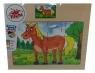Puzzle 12: drewniane Koń