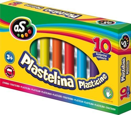 Plastelina Astra AS, 10 kolorów  (303219002)