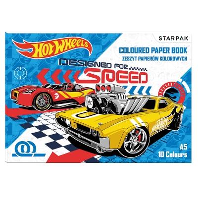 Papier kolorowy A5/10k Hot Wheels 352945