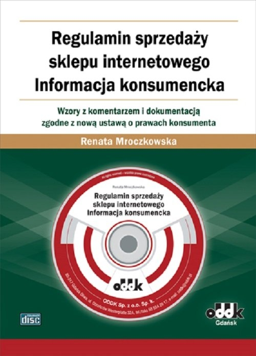 Regulamin sprzedaży sklepu internetowego Informacja konsumencka Renata Mroczkowska