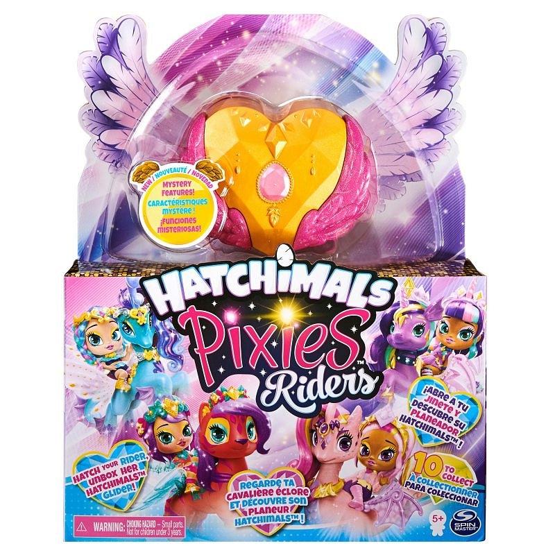 Hatchimals Pixies Riders: Wróżka Gold Shimmer Charlotte i Draggle Glider (6058551/20127517)