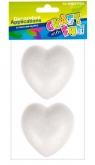 Ozdoba dekoracyjna styropianowe serce 80mm op.2szt.