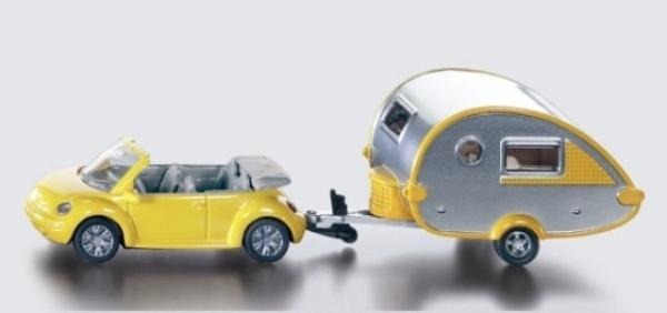 Siku 16 - Samochód z przyczepą campingową - Wiek: 3+ (1629)