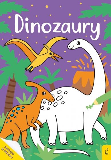 Moja kolorowanka. Dinozaury Opracowanie zbiorowe