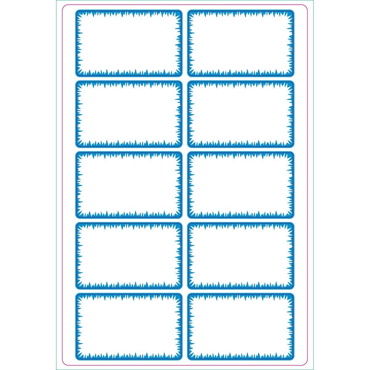 Etykiety opisowe samoprzylepne - biało-niebieskie (837039)