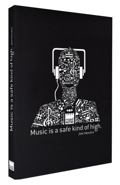 Notatnik ozdobny A5/160K stron gładki Music