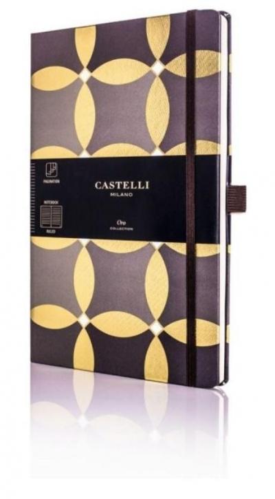 Notatnik 13x21cm linie Castelli Oro Circles