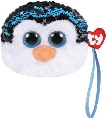 Cekinowa torba na nadgarstek Pingwin Waddles