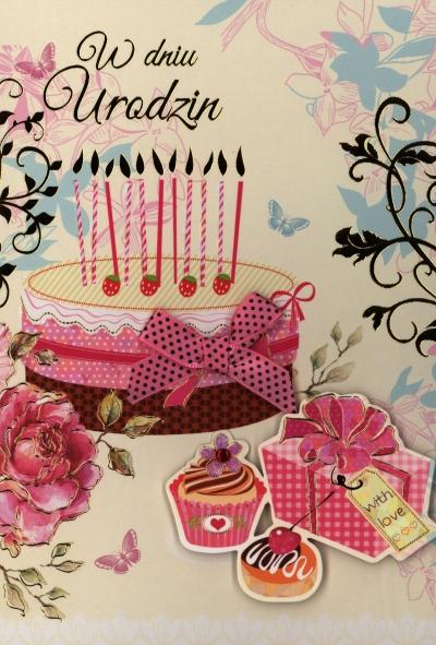 Karnet Urodziny n naklejanymi cyframi HM-200-1228 .
