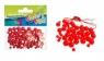 Ozdoba dekoracyjna koraliki czerwone 80el