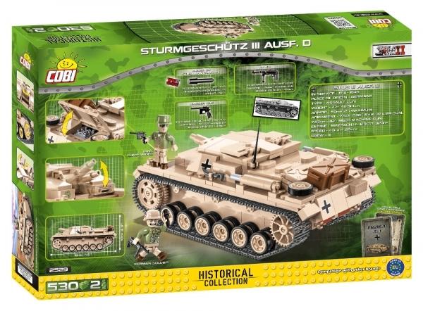 Cobi: Historical Collection. World War II - Sturmgeschütz III Ausf. D - niemieckie działo pancerne (2529)