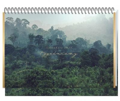 Kalendarz 2021 Biurkowy Tygodniowy Jungle