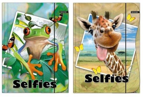 Teczka z gumką A4 Selfies mix
