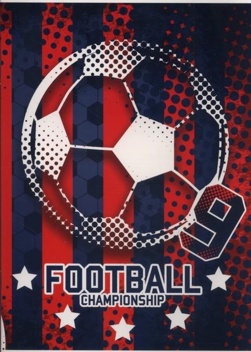 Zeszyt A5 w trzy linie kolorowe 16 kartek Football 5 sztuk