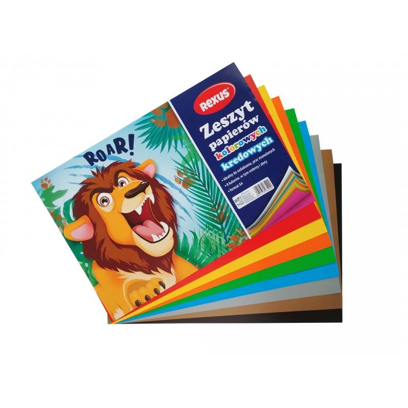 Zeszyt papierów kolorowych kredowanych A4, 8 arkuszy (603529)