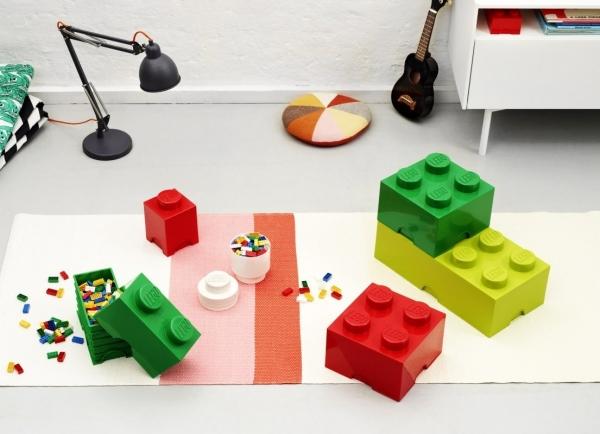 Pojemnik klocek LEGO Brick 4 - Czerwony (40031730)