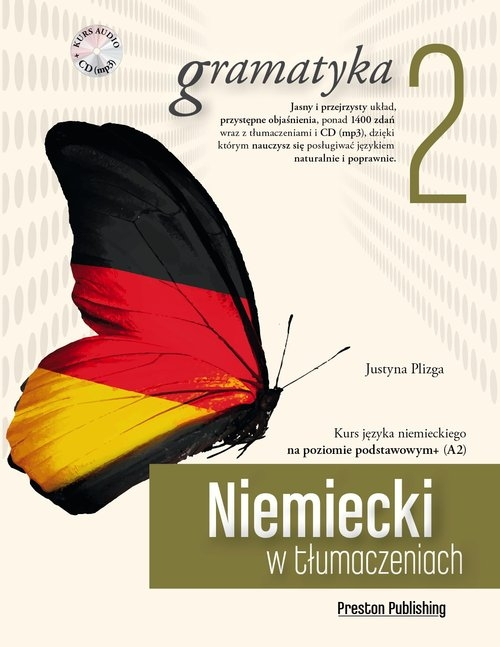 Niemiecki w tłumaczeniach Gramatyka 2 + CD Plizga Justyna