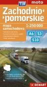 Zachodniopomorskie TIR mapa samochodowa 1:250 000