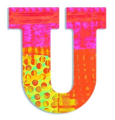 U - literka Paw do przyklejenia (DD04830)