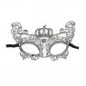 Maska Arpex subtelna koronkowa glamour srebrna (KM0301SRE)