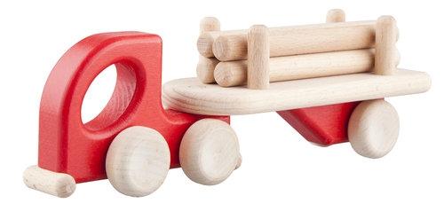 Mała Lorry Logs Czerwona