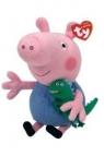 Maskotka Beanie Babies: Świnka Peppa - George 15 cm (46130)