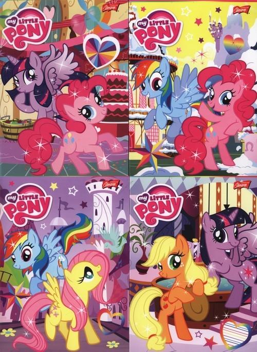 Zeszyt A5 My Little Pony w linie 32 kartki 15 sztuk mix