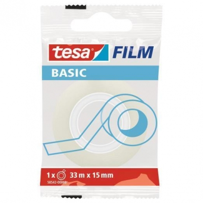 Taśma biurowa Tesa Basic 33m x 15mm (58542-00000-00)