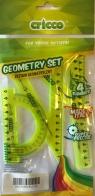 Zestaw geometryczny 4 elementy seledynowy (CR610)