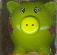 Skarbonka świnka zielona duża