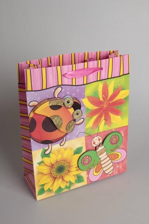 Torebka Ozdobna 3D Duża z motywem zwierząt i kwiatów