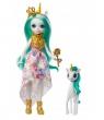 Entchantimals: Lalka Królowa Unity i jednorożec Stepper (GYJ11/GYJ13)