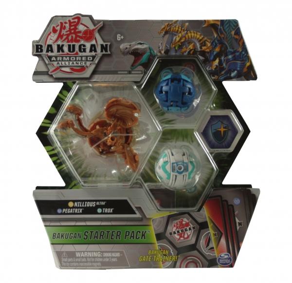 Bakugan: Armored Alliance. Zestaw startowy - Nillious Ultra, Pegatrix, Trox (6055886/20122478)