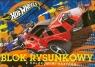 Blok rysunkowy A4 Hot Wheels z kolorowymi kartkami 16 kartek pomarańczowy