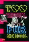 Zeszyt Monster High w linie 16 stron A5 Too Ghoul