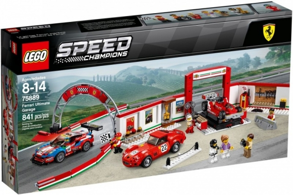 Lego Speed Champions: Rewelacyjny warsztat Ferrari (75889)