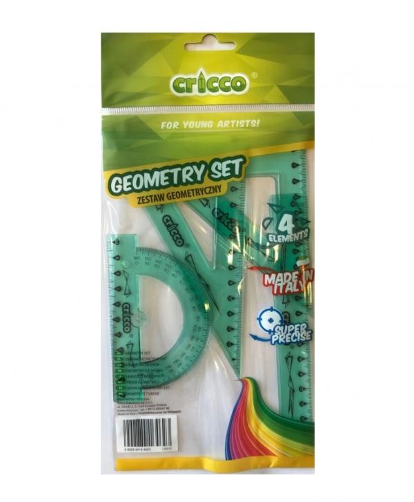 Zestaw geometryczny, 4 elementy - zielony (CR610)