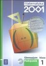 Matematyka 2001 1 Podręcznik z płytą CD Gimnazjum Bazyluk Anna, Dubiecka Anna, Dubiecka-Kruk Barbara i inni