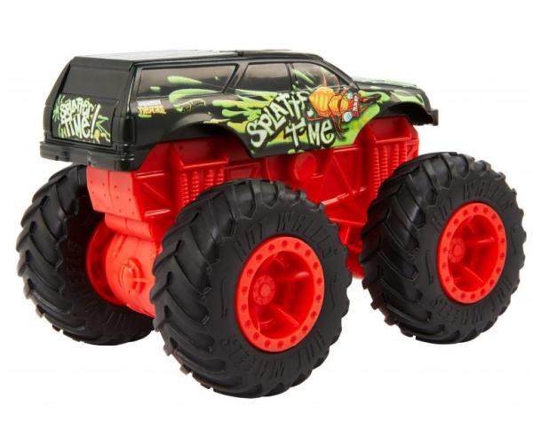 Hot Wheels: Monster Trucks Bush Ups - Pojazd z Kraksą Splatter Time (GCF94/GCF96)