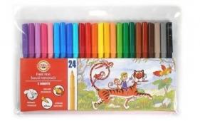 Flamastry zmywalne 24 kolory (771002/BD)