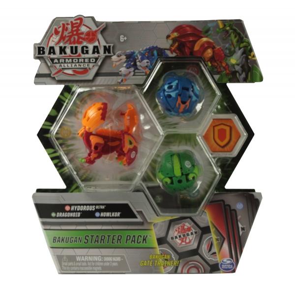 Bakugan: Armored Alliance. Zestaw startowy - Hydorous Ultra, Dragonoid, Howlkor (6055886/20122476)