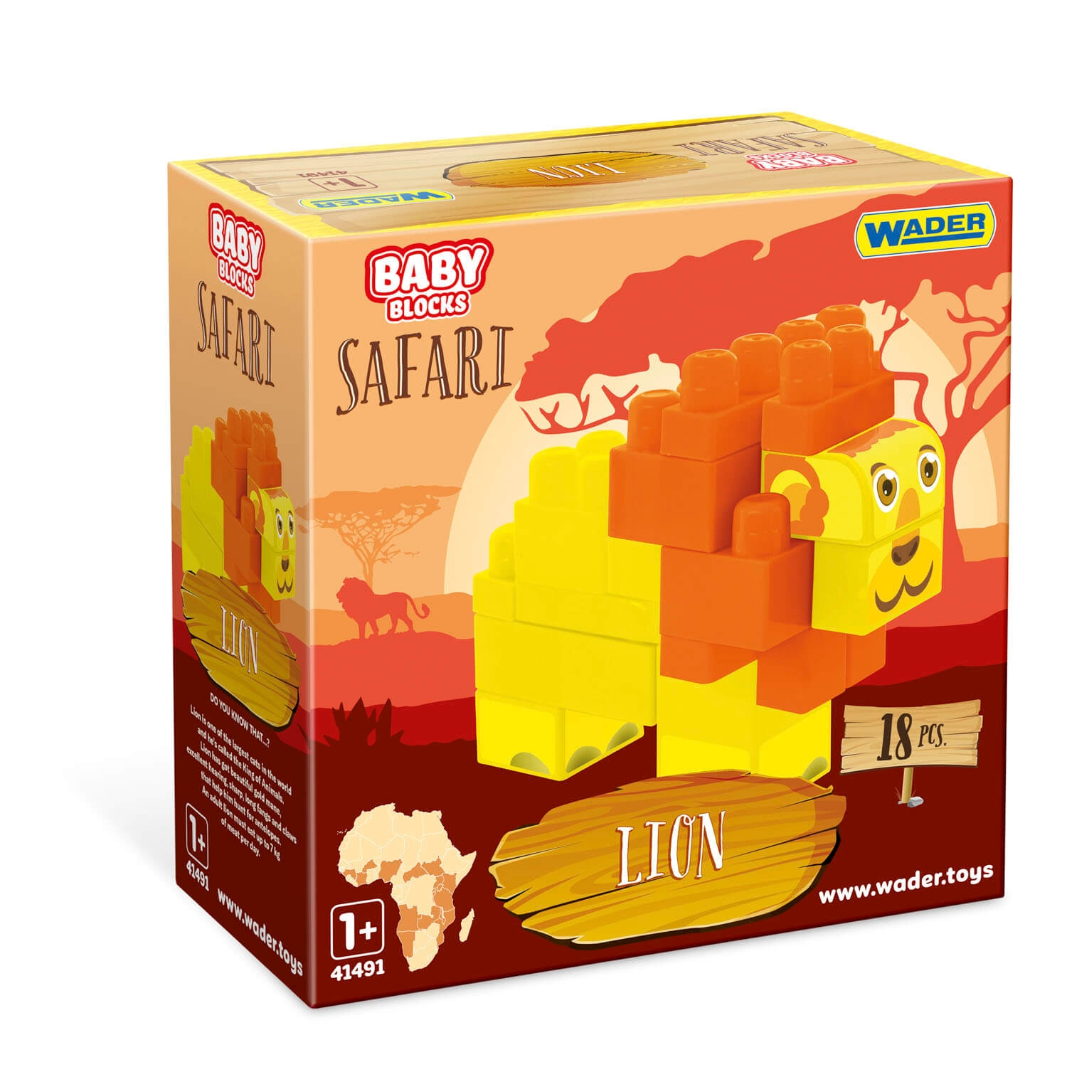 Baby Blocks Safari - klocki lew (41503)